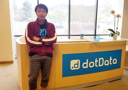NECからカーブアウトしてAIの新会社ドットデータを立ち上げた藤巻遼平氏(米カリフォルニア州サンマテオ市の本社)
