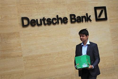 ドイツ銀行は7月上旬、22年までに全行員の2割に当たる1万8000人を削減することを発表した(写真:ロイター/アフロ)