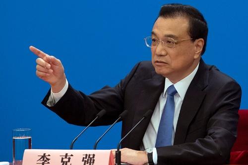 中国の李克強首相。政治活動報告において「中国製造2025」に触れなかった(写真:AP/アフロ)