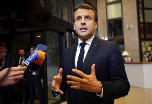 EU改革の遅れを気にするマクロン仏大統領は離脱延期に強く反対した(写真:AP/アフロ)