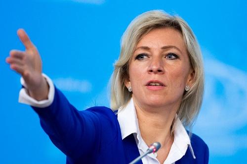 ロシア外務省のマリア・ザハロワ報道官(写真:AP/アフロ)