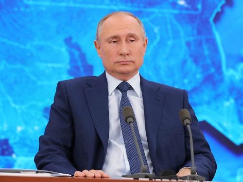 プーチン大統領は憲法を改正し、最長で2036年まで大統領職にとどまることができるようにした(写真:ロイター/アフロ)