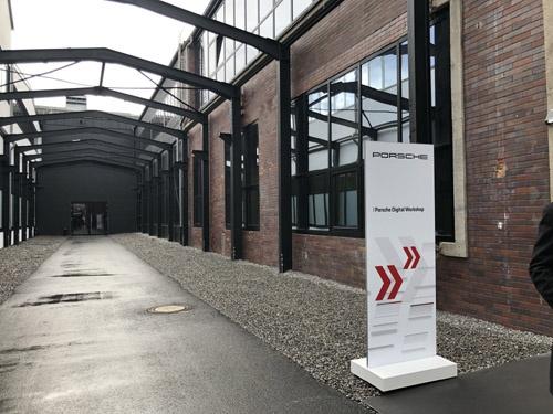 シュトゥットガルト近郊のルートヴィヒスブルクの倉庫街にあるポルシェデジタル社。(写真:藤野太一)