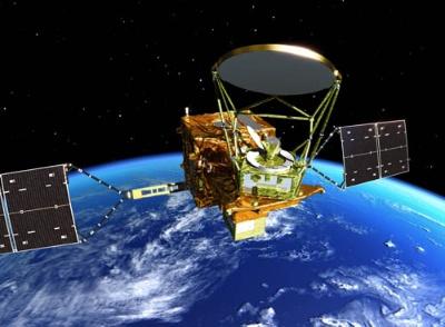 JAXAの地球観測衛星(画像は共にJAXA)。ALOSシリーズの合成開口レーダー衛星「だいち2号(ALOS-2)」(上)と、GCOMシリーズの水循環変動観測衛星「しずく(GCOM-W)」(下)