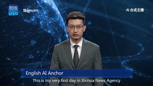 YouTubeの新華社のチャンネルで公開されたAIアナウンサーの動画