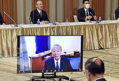 今年1月、ウェブでの労使トップ会談に出席した中西会長。闘病しながら、日本の賃金が低水準になってしまったと悔しがっていた