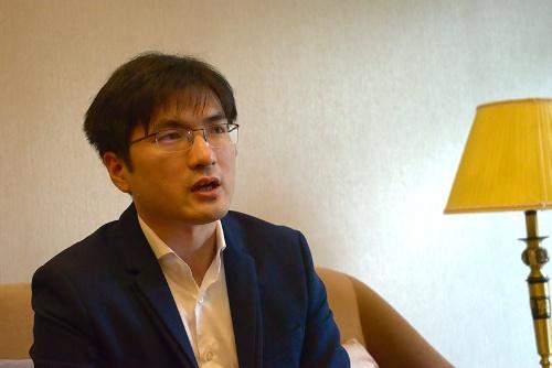 マンゴーTV総裁助理の方菲(ファン・フェイ)氏(写真:藤井 直毅)
