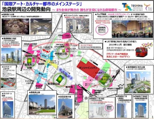 池袋駅周辺の再開発の全貌(資料:豊島区)
