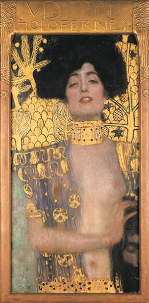 グスタフ・クリムト《ユディトⅠ》1901年 油彩、カンヴァス 84×42cm<br />ベルヴェデーレ宮オーストリア絵画館 (C)Belvedere, Vienna, Photo: Johannes Stoll