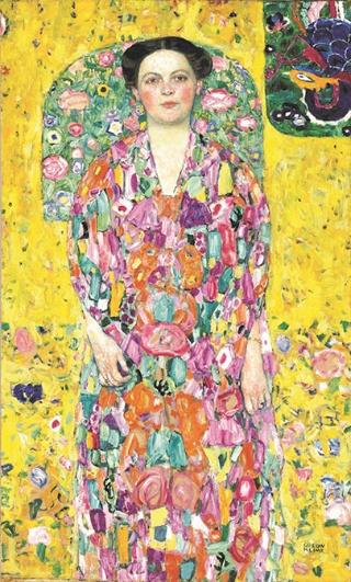 グスタフ・クリムト《オイゲニア・プリマフェージの肖像》 1913/1914年 油彩、カンヴァス 140×85cm 豊田市美術館