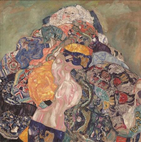 グスタフ・クリムト《赤子(ゆりかご)》 1917年 油彩、カンヴァス 110.9×110.4cm ワシントン・ナショナル・ギャラリー  National Gallery of Art, Washington, Gift of Otto and Franciska Kallir with the help of the Carol and Edwin Gaines Fullinwider Fund, 1978.41.1