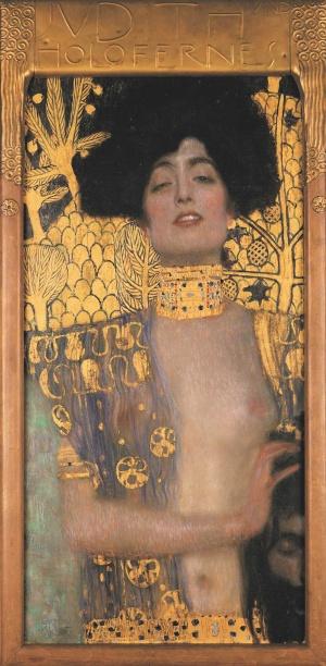 グスタフ・クリムト《ユディトⅠ》 1901年 油彩、カンヴァス 84×42cm ベルヴェデーレ宮オーストリア絵画館 (C)Belvedere, Vienna, Photo: Johannes Stoll