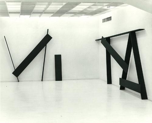 斎藤義重個展(第9回)展覧会風景(東京画廊+BTAP、1980年)