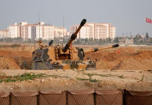 米軍のシリア撤退を受けて、トルコはクルド人居住区を攻撃した(写真:ロイター/アフロ)