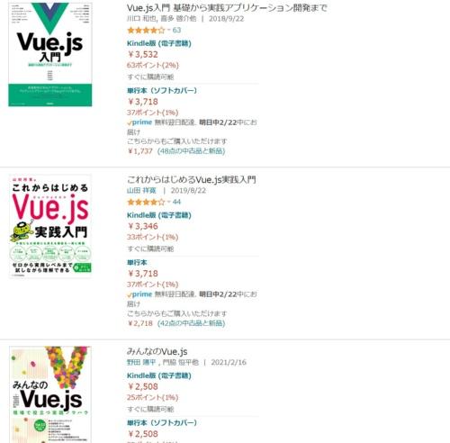 多くの解説本が出ているVue.js。筆者がamazonで検索したところ16冊が確認できた