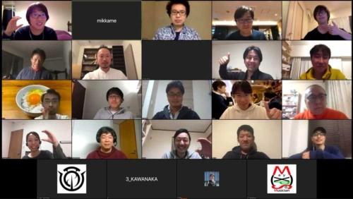 開発は今も続いている。3月7日に行われたオンラインハッカソンの様子 (Code for Japan提供)