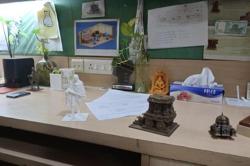 Vizara Technologiesはインドの遺跡などを、立方体が集積した形式のボクセルデータにする事業を手がけている