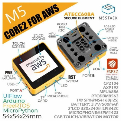 M5Stack Core2 for AWS。日本での販売価格は5852円