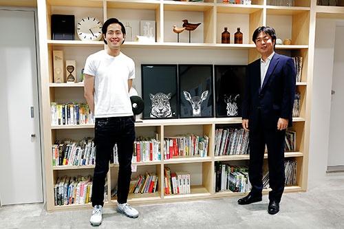 北野唯我氏(左)と藤吉雅春氏(撮影/竹井 俊晴、ほかも同じ)