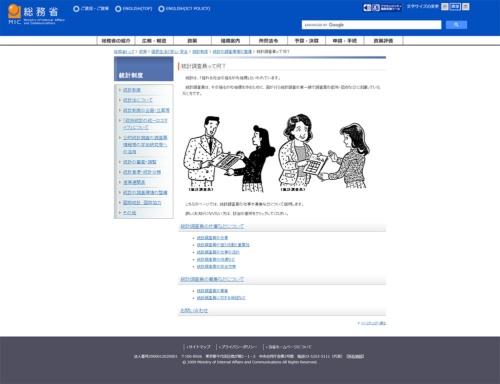 総務省の国勢調査のホームページ