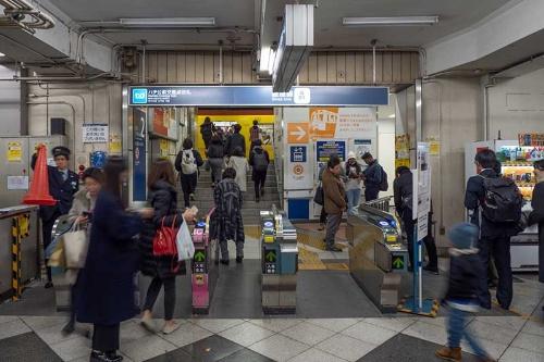 銀座線乗車専用ホームに入る改札。改札を抜けて階段をちょっと上るとすぐホームだったのが懐かしい。銀座線渋谷駅の最終日に撮影