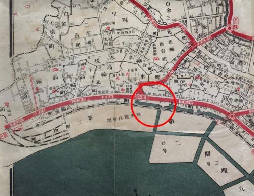 大正13年(1924年)発行の東京市区分地図