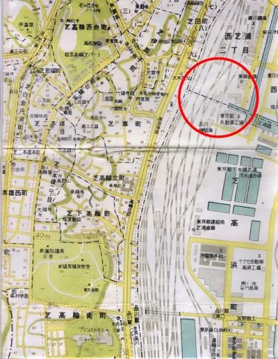 昭和33年(1958年) 港区詳細地図