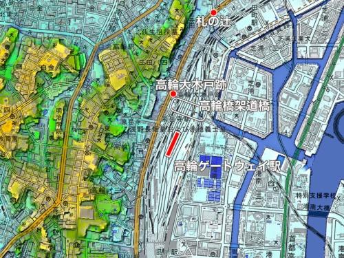 高輪ゲートウェイ駅周辺図