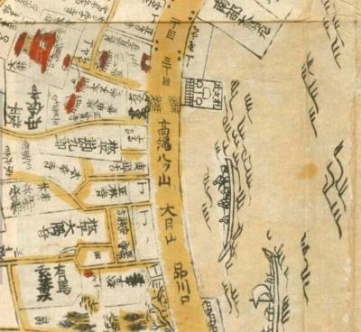 1723年(享保8年)の江戸絵図