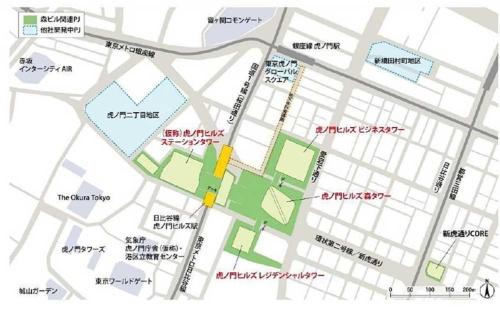 虎ノ門ヒルズ周辺の再開発プロジェクト