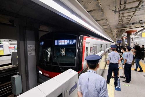 開業当日の虎ノ門ヒルズ駅(写真:東京メトロ)