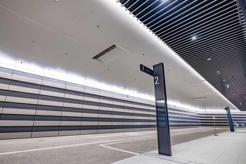 虎ノ門ヒルズビジネスタワー1階にあるBRTと空港リムジンバスの乗り場