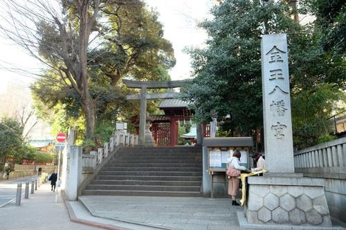金王八幡宮。中世の渋谷城祉(写真:荻窪圭)