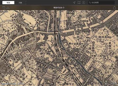 明治時代末期の渋谷周辺