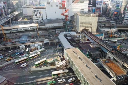 2015年、東急百貨店東横店東館がなくなった渋谷駅。ずいぶんすっきりしてしまった(写真:荻窪圭)