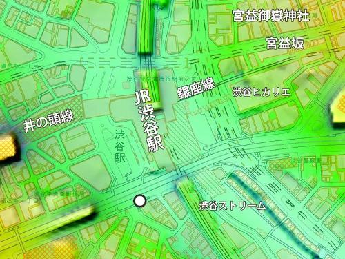 上記の画像の撮影場所は地図上の白丸部分