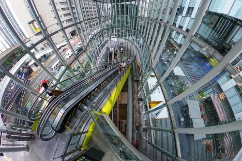 渋谷ストリームのアーバン・コアを上から見たところ(写真:荻窪圭)