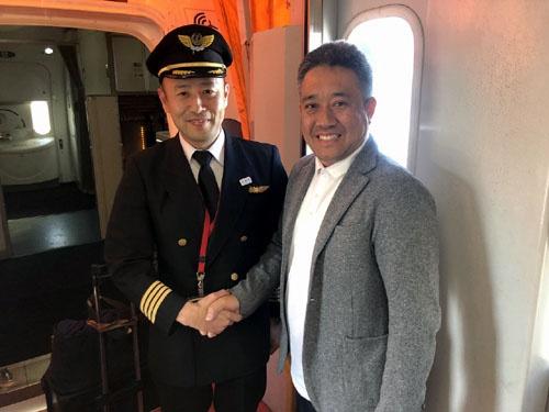 ホンダ第二期以来のF1ファン、日本航空の山田機長。JALに乗ってよかったです。