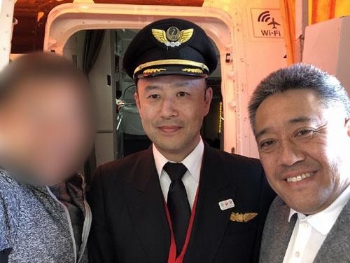 山田機長、山本部長と。ちなみに山田機長のお兄様は日経にお勤めだそうです。