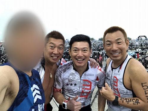 今回は兄弟チームであるMITの面々に交ぜていただきました。左から、私、横瀬武夫くん、吉崎英司くん、木田鉄士くん。みなさん飲食関係のプロフェッショナルです。