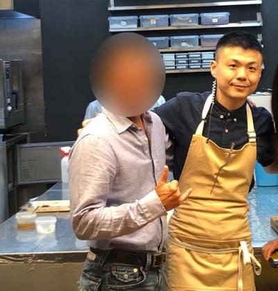 アンドレ・チャン氏からキッチンを預かる台湾人シェフ、アラン・ホワン氏。美味しゅうございました。