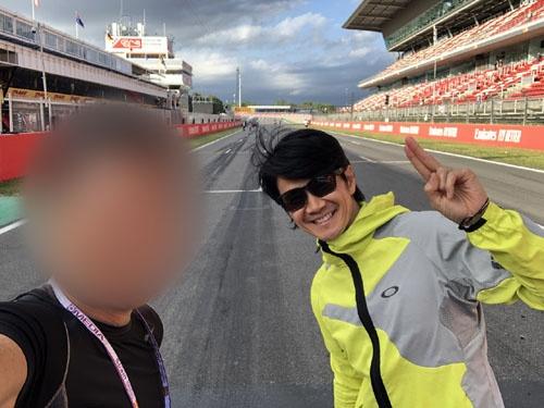 現役のレーサーとして、いまも鍛え続けている中野さん。F1の頃に走り込みすぎて、膝を壊してしまったこともあるそうだ。