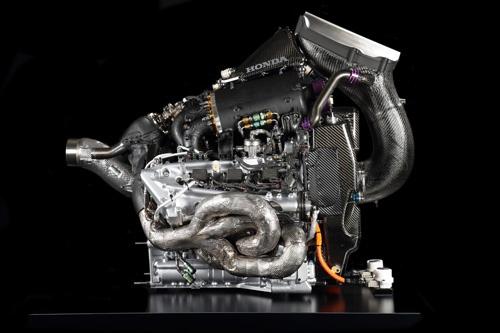 ホンダのPU、ただしこれは昨年の「Honda RA618H」。これしか写真がないんだそうです……。お借りしておきながら言うのも申しわけないのですが、残念。(写真:ホンダ)