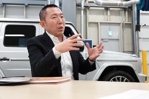メルセデス・ベンツ日本 販売店部部長の中山大輔さん