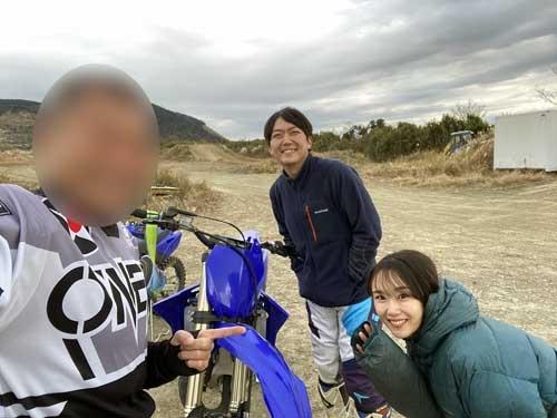 若村脩平選手と美人の奥様。奇遇でございました。