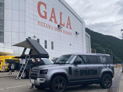 駅直結のスキー場としてバブル期には大変な賑わいを見せたGALA湯沢。JLJはこの大会のスポンサーをしているんですな。