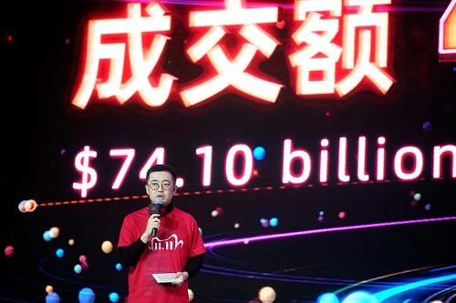 4982億元(約8.4兆円)を売り上げた2020年のアリババ「独身の日」セール(写真:ロイター/アフロ)