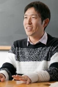 ELSIで宇宙生物学の研究を行う藤島皓介さん。