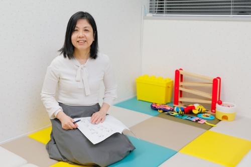 発達障害クリニックの子どものためのスペースにて。