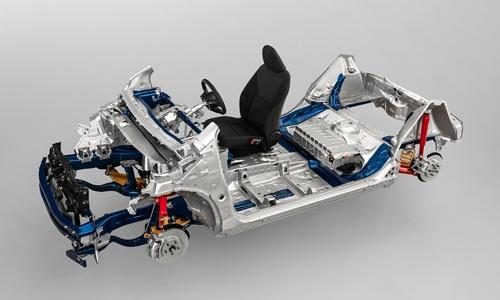 ヤリスに採用された「GA-B」プラットフォーム。TNGAの思想に基づいた初のBセグメント向けプラットフォームだ。(写真:トヨタ自動車)